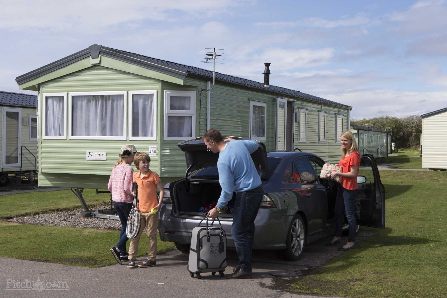 family caravan for holiday letting cleaning